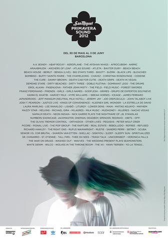 San Miguel Primavera Sound  | festivales