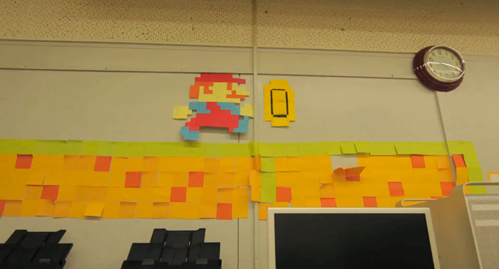 Super Mario cobra vida en forma de Post-it!