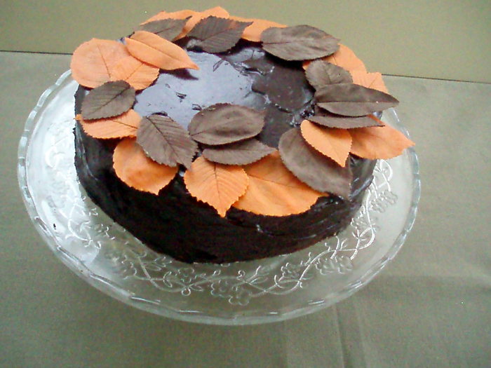 Tarta de chocolate otoñal | recetas