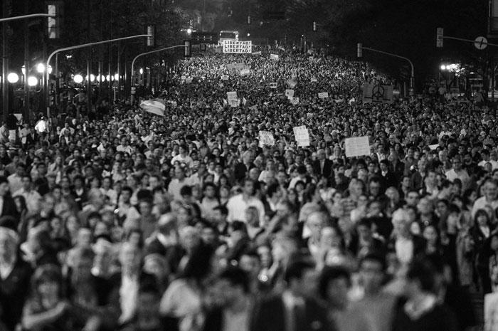 Protestas en Argentina el pasado 13 de septiembre