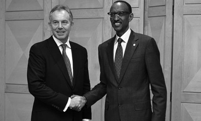 Blair y Kagame | AFP