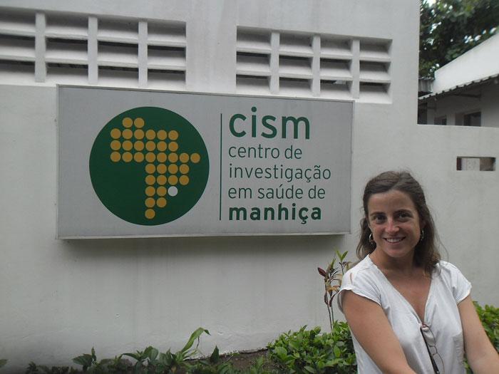 María Ruperez en la puerta del CISM