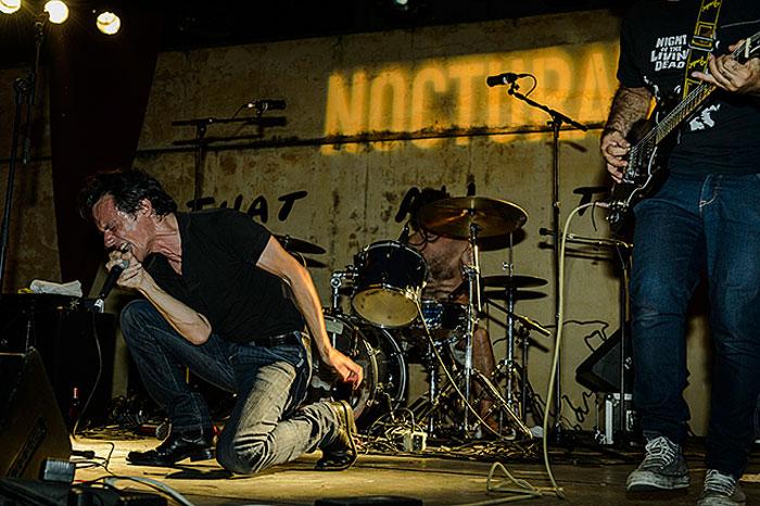 Miraflores durante su actuación en Nocturama