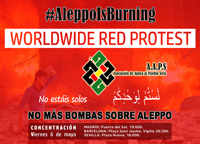 ¡Alepo Arde! WORLDWIDE RED PROTEST