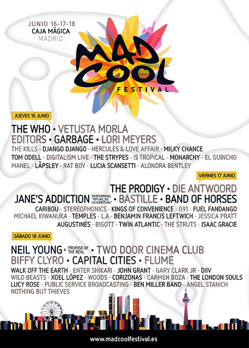 Mad cool festival palabras mayores the who neil young for Palabras maories