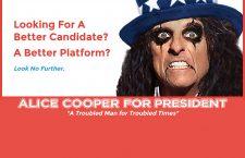 Ni Hillary Clinton, ni Donald Trump, vota Alice Cooper presidente