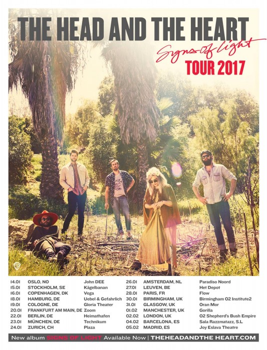 The Head and the Heart, 'Signs Of Light' Tour 2017 en Barcelona y Madrid