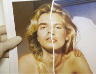 Copying Claudia performance del artista Pachi Santiago con iconografía de Claudia Schiffer