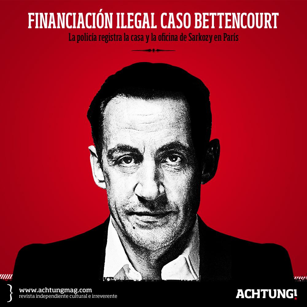 La policía registra la casa y la oficina de Sarkozy