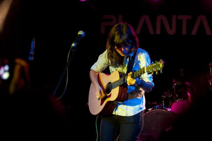 Carmen Boza durante su actuación en el Granapop 2012