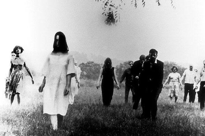 """Escena de """"La noche de los muertos vivientes"""""""