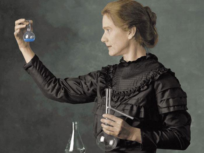 Retrato de Marie Curie, la primera mujer en ser galardonada con el premio Nobel