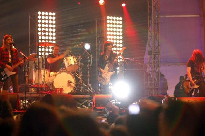 Dover, durante su actuación en el Festival do Norte | Foto EFE