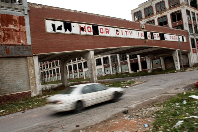 La ciudad de Detroit ha declarado este mes de julio su bancarrota con una deuda estimada de 18.500 millones de dólares (Photo by Spencer Platt/Getty Images)