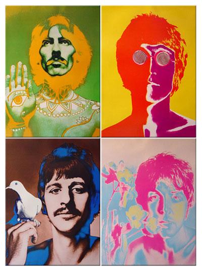 Retratos de The Beatles realizados por