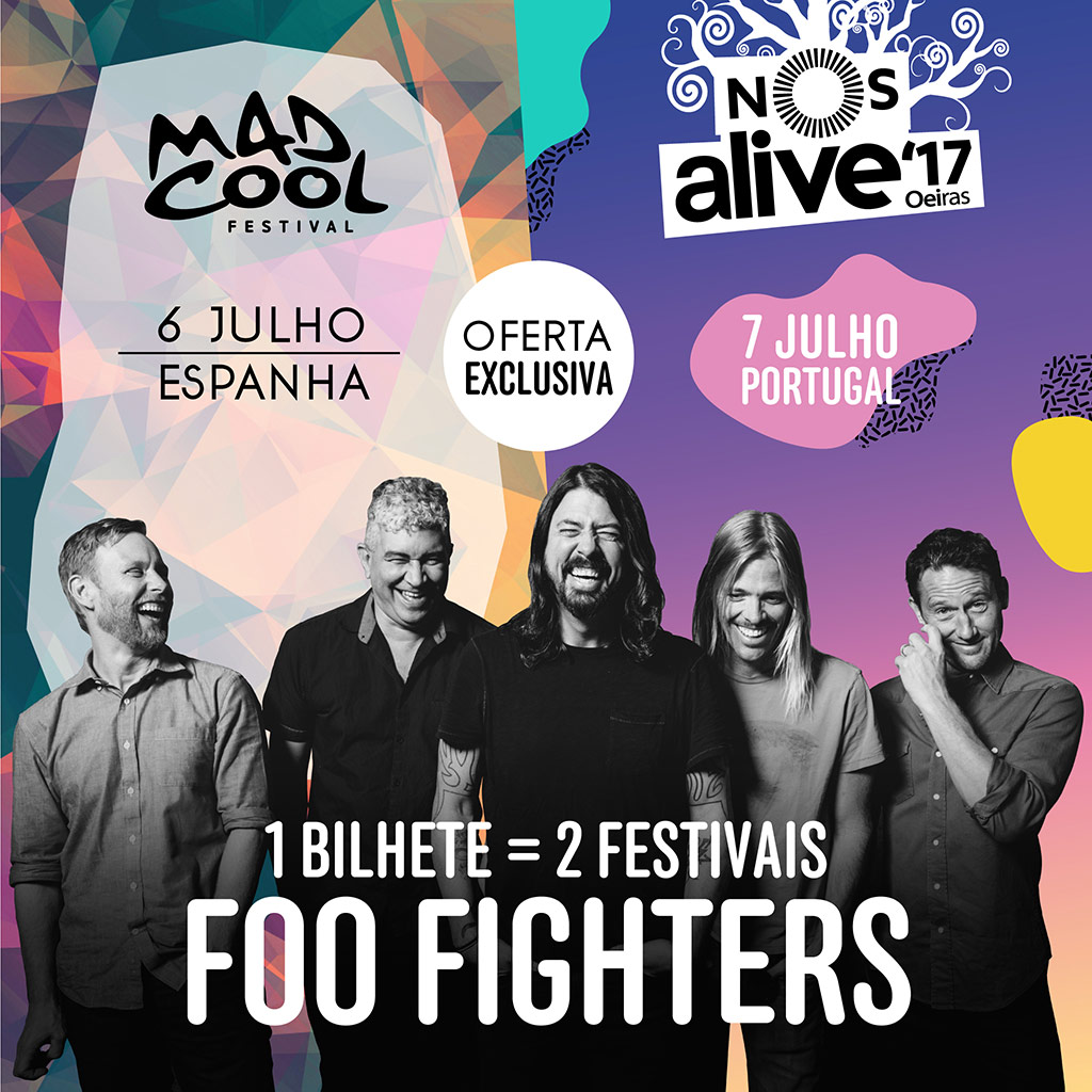 Foo Fighters por partida doble en Mad Cool Festival y NOS Alive