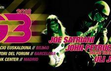 La gira de G3 llega a España: Satriani, Petrucci, Uli Jon Roth y sus guitarras