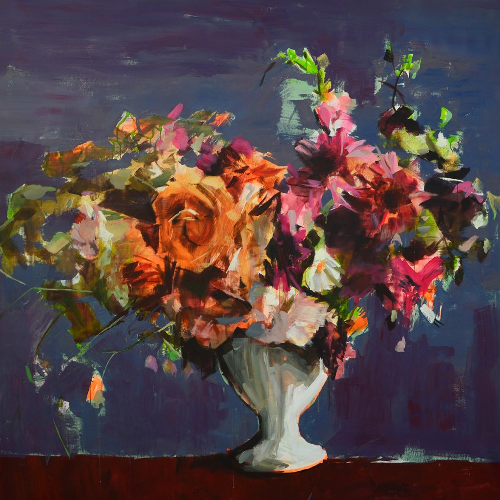 Flores, 2018 Acrílico sobre tela 195 x 195 cm
