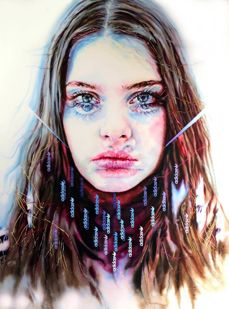 Hanna Nitsch. EstoyEnTiEstásEnMí 2019 tinta y grafito sobre papel_58,7 x 43,7 cm