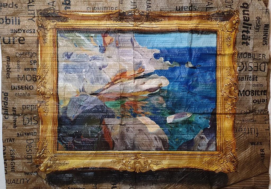 Joaquín Sorolla - Rocas de Jávea y el bote blanco