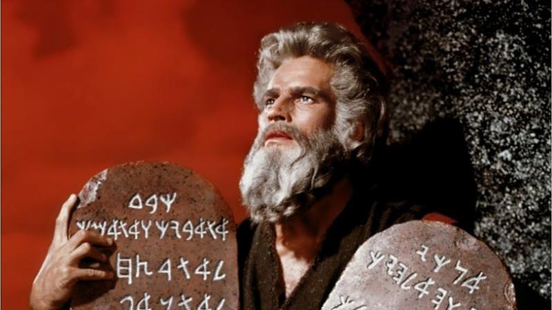 Los diez mandamientos, 1956 - Paramount Pictures. Director: Cecil B. DeMille