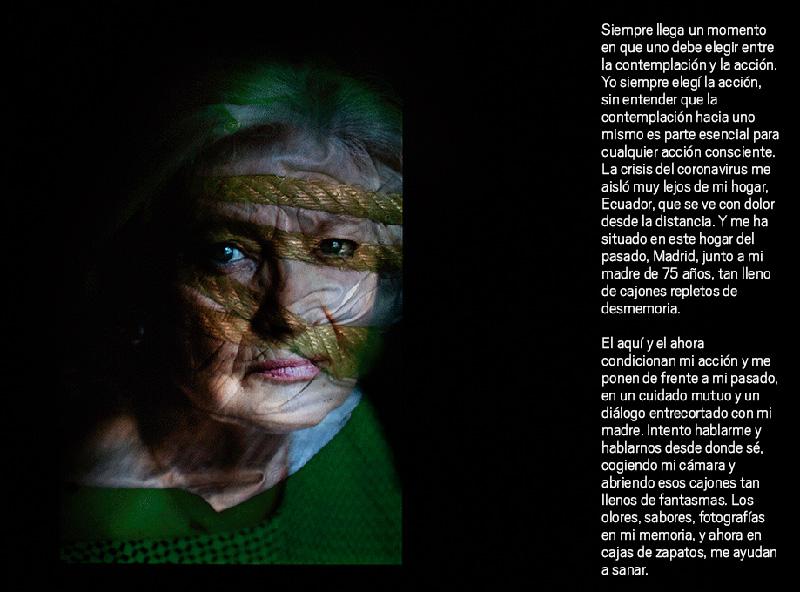 Edu León, Mirar hacia adentro, 2020. Fotografía y texto
