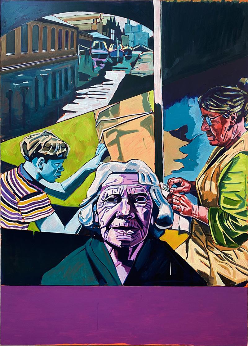 GRAN GRAN'S STORIES, 2020 óleo sobre lienzo 180 x 130 cm