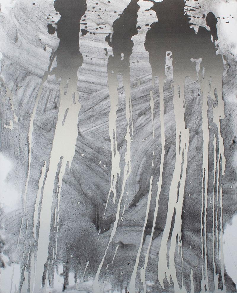Sin título (Graphite brushstrokes) 2020 Acrílico sobre lienzo, 150 x 120 cm