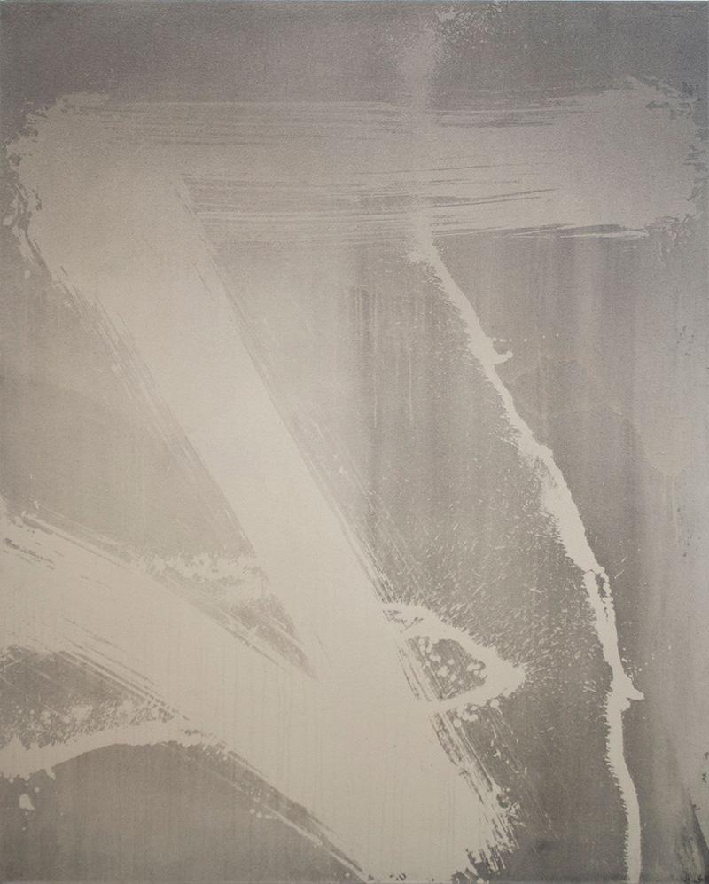 Sin título (Zeta2) 2020 Acrílico, lejía y gel sobre lienzo, 150 x 120 cm